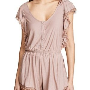 NEW L*Space Sweet Life Dusty Rose Button Romper XS
